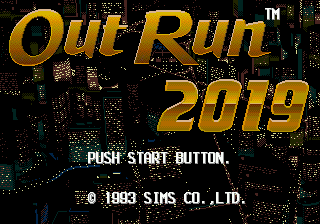 OutRun 2019 (Japan) Title Screen