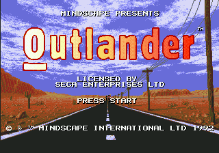 Outlander (Europe) Title Screen