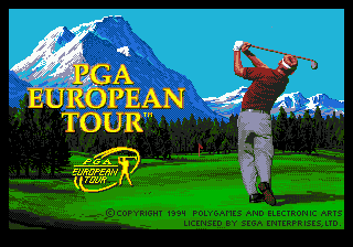 PGA European Tour (USA, Europe) Title Screen