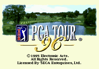 PGA Tour 96 (USA, Europe) Title Screen