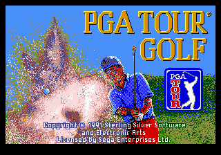 PGA Tour Golf (USA, Europe) (v1.2) Title Screen