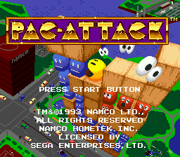 Pac-Attack (USA) Title Screen
