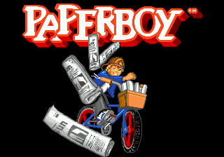 Paperboy (Japan) Title Screen