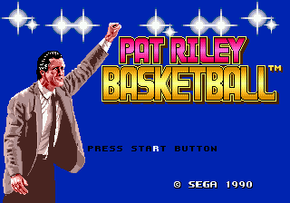 Pat Riley Basketball (USA) Title Screen