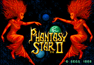 Phantasy Star II (Brazil) Title Screen