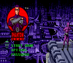 Phantom 2040 (Europe) Title Screen