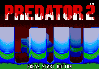 Predator 2 (USA, Europe) Title Screen