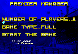 Premier Manager (Europe) Title Screen