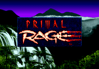Primal Rage (USA, Europe) Title Screen