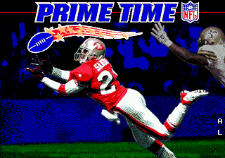 Prime Time NFL Starring Deion Sanders (USA) Title Screen