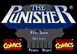 Punisher, The (Europe) Title Screen