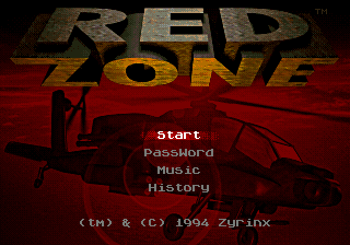 Red Zone (USA, Europe) Title Screen