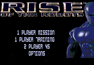 Rise of the Robots (Europe) Title Screen