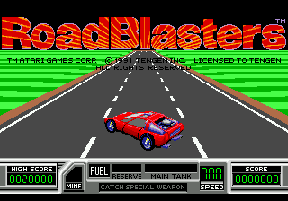 RoadBlasters (USA) Title Screen