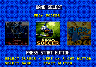 Sega Top Five (Brazil) Title Screen