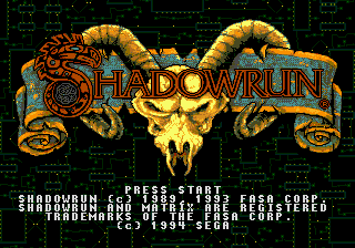 Shadowrun (Japan) Title Screen