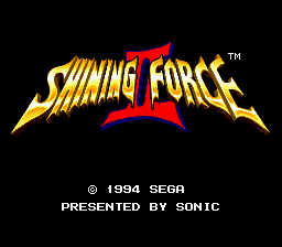 Shining Force II (USA) Title Screen
