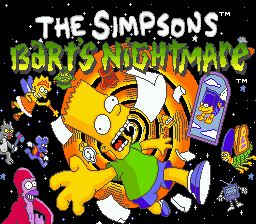 Simpsons, The - Bart's Nightmare (USA, Europe) Title Screen