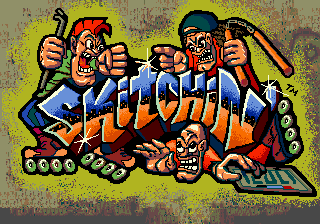 Skitchin (USA, Europe) Title Screen
