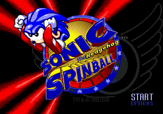 Sonic Spinball (Europe) Title Screen