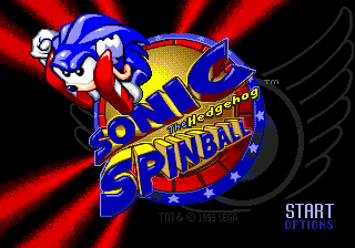 Sonic Spinball (Japan) Title Screen