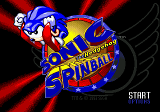 Sonic Spinball (USA) Title Screen