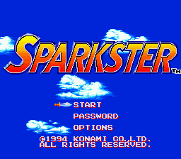 Sparkster (USA) Title Screen