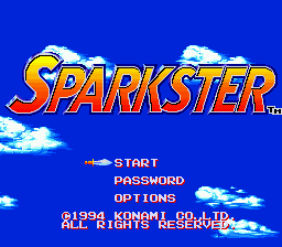 Sparkster - Rocket Knight Adventures 2 (Japan) Title Screen