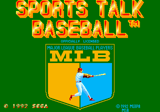 Sports Talk Baseball (USA) Title Screen