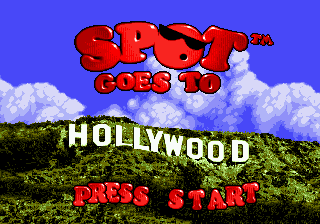 Spot Goes to Hollywood (Europe) Title Screen