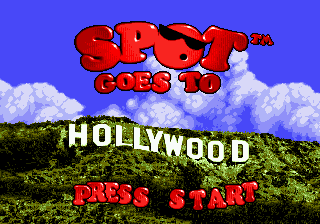 Spot Goes to Hollywood (USA) Title Screen