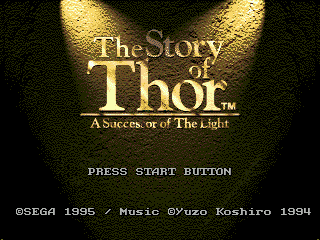 Story of Thor, The (Europe) Title Screen