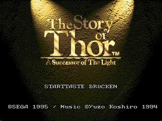 Story of Thor, The (Germany) Title Screen