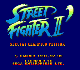 Street Fighter II' - Special Champion Edition (Europe) Title Screen