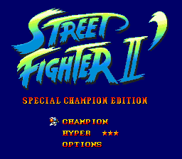 Street Fighter II' - Special Champion Edition (USA) Title Screen
