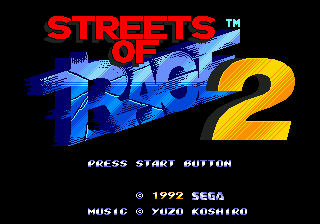 Streets of Rage 2 (USA) Title Screen