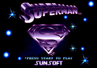 Superman (USA) Title Screen