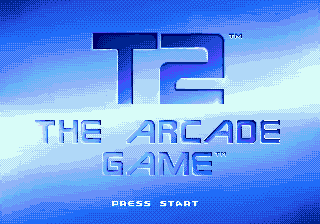 T2 - The Arcade Game (USA, Europe) Title Screen