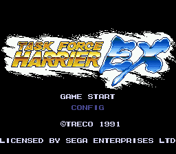 Task Force Harrier EX (USA) Title Screen
