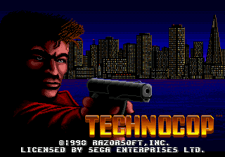 Technocop (USA) Title Screen