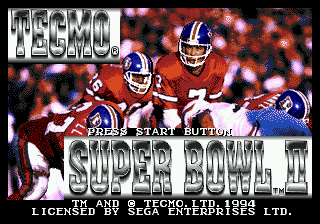 Tecmo Super Bowl II (USA) Title Screen
