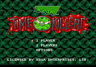 Time Killers (USA) Title Screen