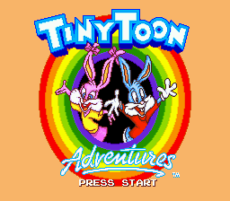 Tiny Toon Adventures - Buster's Hidden Treasure (Europe) Title Screen