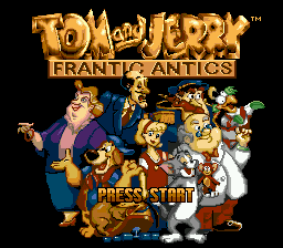Tom and Jerry - Frantic Antics (USA) (1993) Title Screen