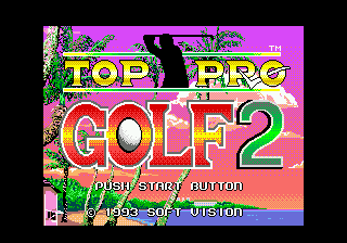 Top Pro Golf 2 (Japan) Title Screen