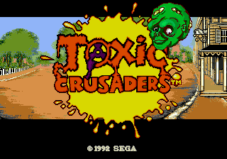 Toxic Crusaders (USA) Title Screen