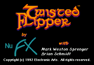 Twisted Flipper (USA) (Beta) Title Screen