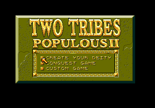 Two Tribes - Populous II (Europe) Title Screen