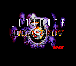Ultimate Mortal Kombat 3 (Europe) Title Screen
