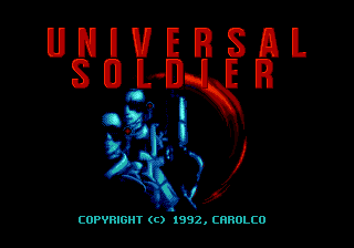 Universal Soldier (USA, Europe) Title Screen